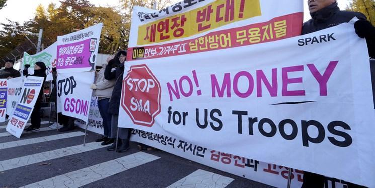 تظاهرات کنندگان در سئول: ما مستعمره آمریکا نیستیم