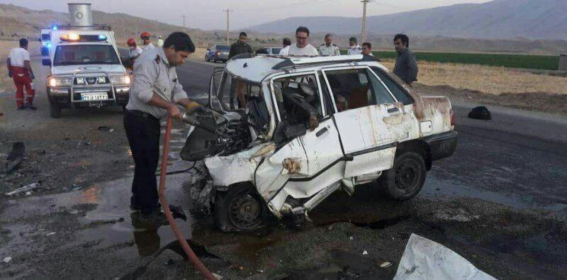 خبرنگاران تصادف در جاده اهواز- هفتکل 2 کشته وچهار مصدوم برجا گذاشت